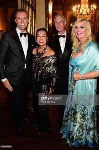 Prince Mario-Max Schaumburg-Lippe, Princess Antonia and Prince Waldemar with Sue Wong