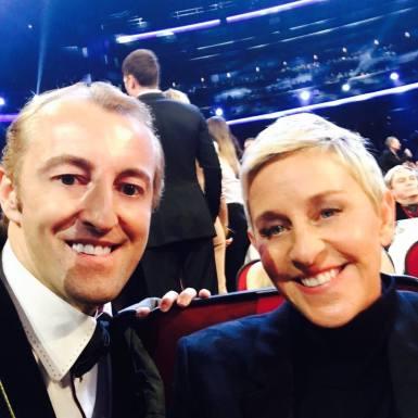 Prince Mario-Max Schaumburg-Lippe with Ellen DeGeneres