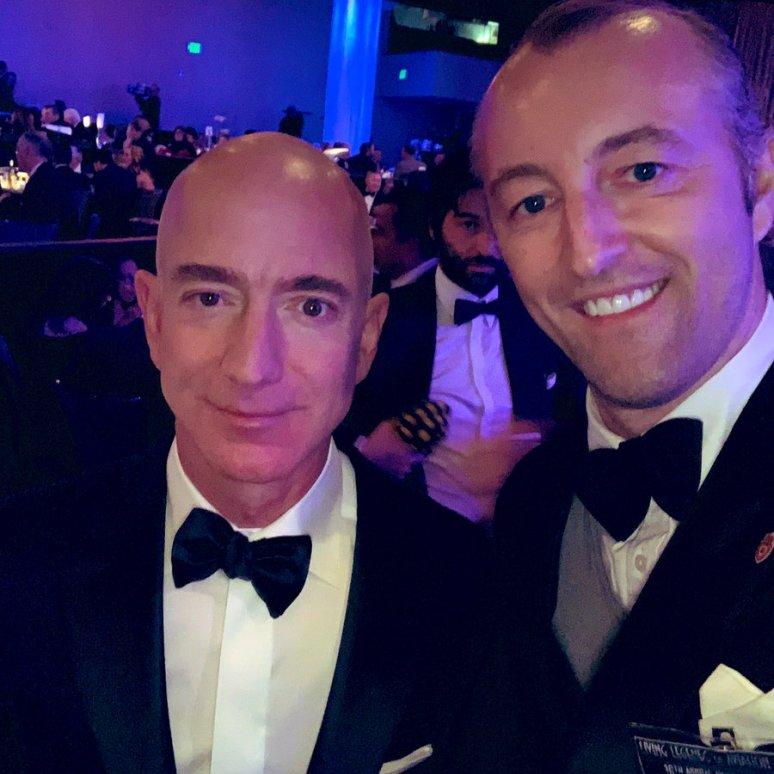 Prince Mario-Max Schaumburg-Lippe with Jeff Bezos