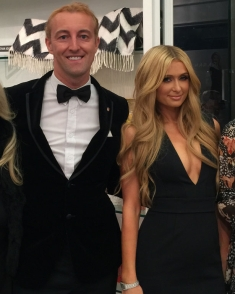 Prince Mario-Max Schaumburg-Lippe with Paris Hilton
