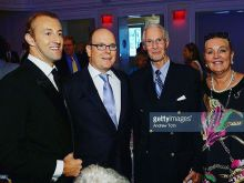Prince Mario-Max Schaumburg-Lippe with HSH Prince Albert of Monaco and HH Prince Waldemar Schaumburg-Lippe